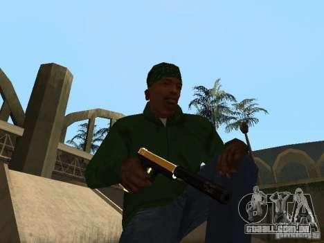 Armas de ouro de Pak para GTA San Andreas quinto tela