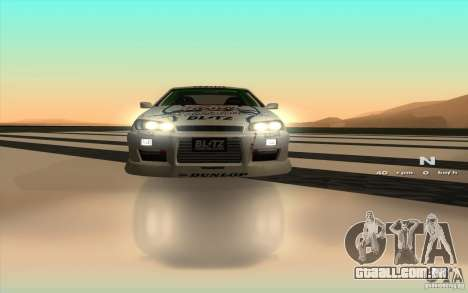 Nissan Skyline ER34 D1GP Blitz para GTA San Andreas vista interior