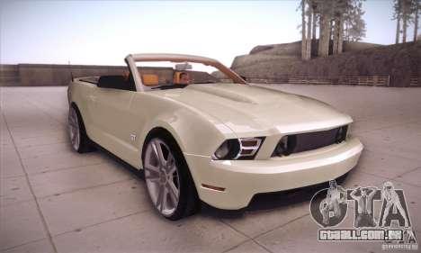 Ford Mustang 2011 Convertible para GTA San Andreas vista traseira