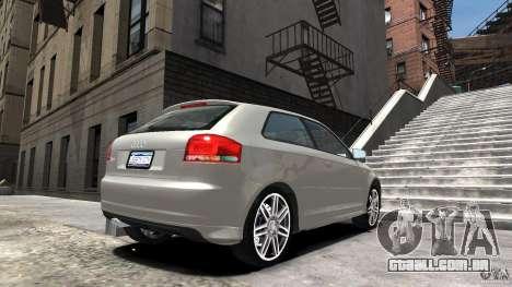 Audi S3 2006 v 1.1 não é tonirovanaâ para GTA 4 esquerda vista