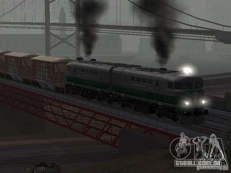 TE2-414 para GTA San Andreas vista traseira