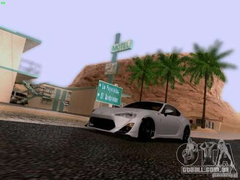 Toyota 86 TRDPerformanceLine 2012 para GTA San Andreas vista superior