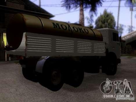 Tanque de leite 53212 KAMAZ para GTA San Andreas esquerda vista
