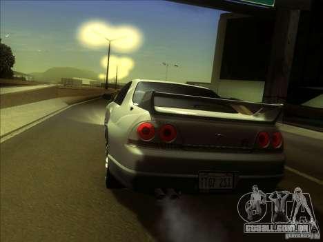 Nissan Skyline GTR BNR33 para GTA San Andreas vista direita