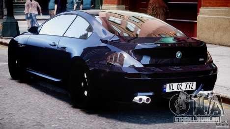 BMW M6 Orange-Black Bullet para GTA 4 vista direita