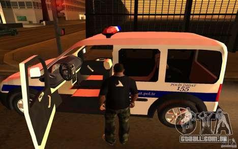 Ford Transit Connect Turkish Police para GTA San Andreas vista direita