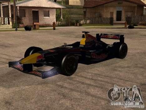F1 Red Bull Sport para GTA San Andreas
