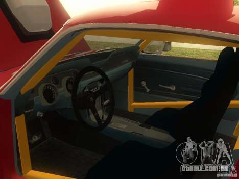 Ford Mustang 1967 GT Tuned para GTA San Andreas vista interior