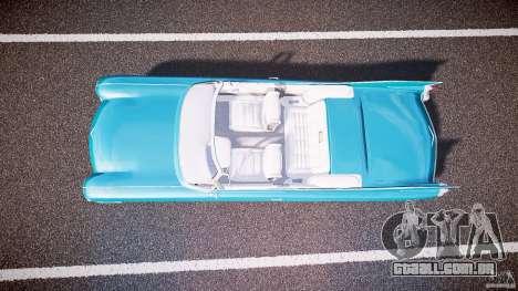 Cadillac Eldorado 1959 interior white para GTA 4 vista de volta