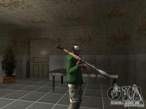 Pak domésticos armas V2 para GTA San Andreas twelth tela