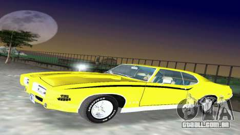 Pontiac GTO The Judge 1969 para GTA Vice City deixou vista