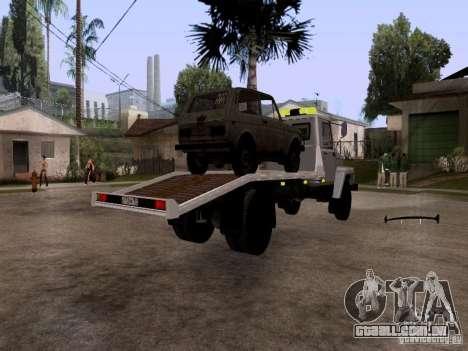 Caminhão de reboque de GAZ 3309 para GTA San Andreas traseira esquerda vista