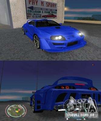 Toyota Supra 2006 Most Wanted para GTA San Andreas esquerda vista