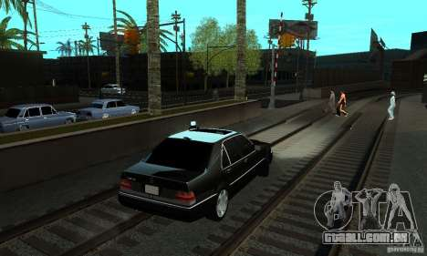 Mercedes-Benz 400 SE w140 Deputat Style para GTA San Andreas traseira esquerda vista