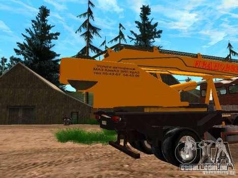 KAMAZ 6520 KS3577-3 k Ivanovets para GTA San Andreas vista direita