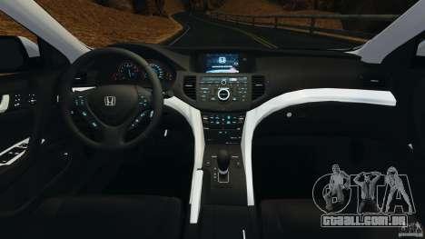 Honda Accord Type S 2008 para GTA 4 vista de volta