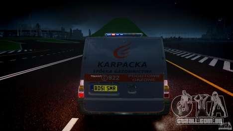 Ford Transit Usluga polski gazu [ELS] para GTA 4 vista inferior