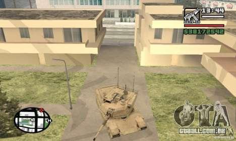 M1A2 Abrams TUSK para GTA San Andreas vista traseira