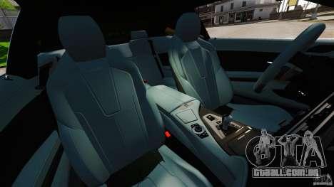 BMW M6 para GTA 4 vista interior