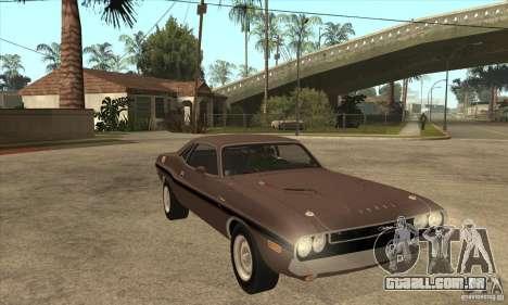 Dodge Challenger R/T Hemi 426 para GTA San Andreas vista traseira
