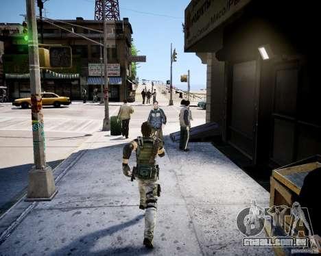 Chris from Resident Evil 5 para GTA 4 segundo screenshot