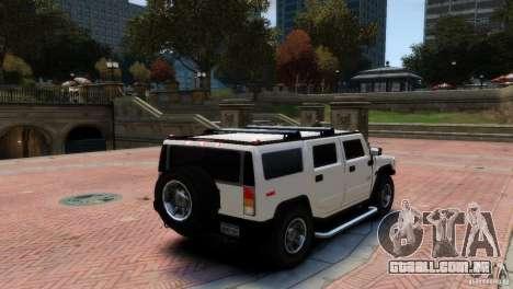 Hummer H2 para GTA 4 esquerda vista