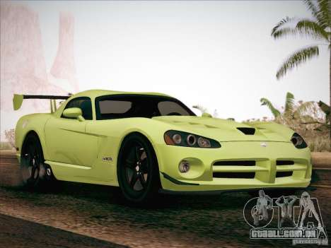 Dodge Viper SRT-10 ACR para GTA San Andreas vista superior
