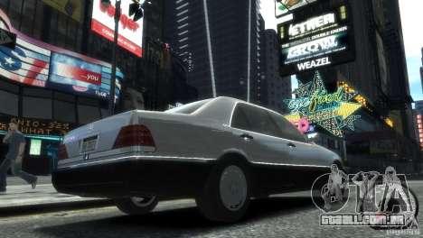 Mercedes-Benz 600SEL wheel2 tinted para GTA 4 esquerda vista
