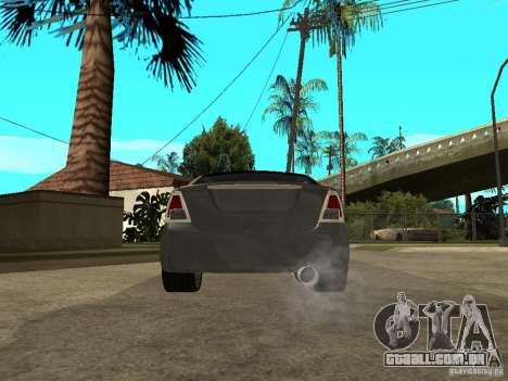 Ford Fusion 2008 Dub para GTA San Andreas traseira esquerda vista