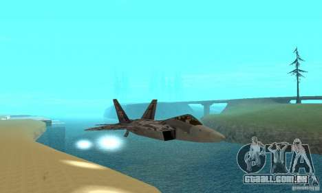 F-22 Starscream para GTA San Andreas vista inferior