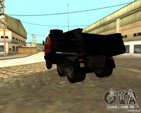 KAMAZ 55111 para GTA San Andreas traseira esquerda vista