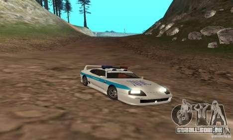 Jester Russian Police para GTA San Andreas vista superior