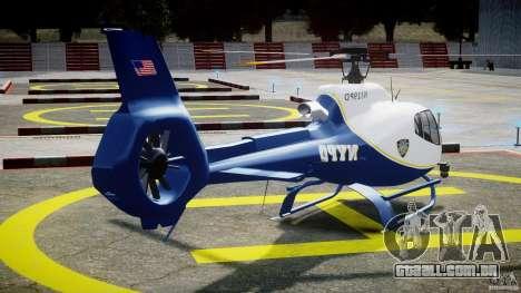 Eurocopter EC 130 NYPD para GTA 4 vista lateral
