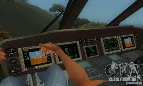 UH-60M Black Hawk para vista lateral GTA San Andreas