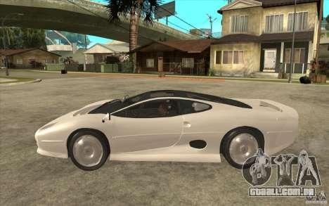 Jaguar XJ 220 para GTA San Andreas esquerda vista