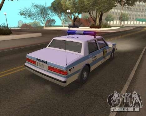 Updated LVPD para GTA San Andreas vista direita