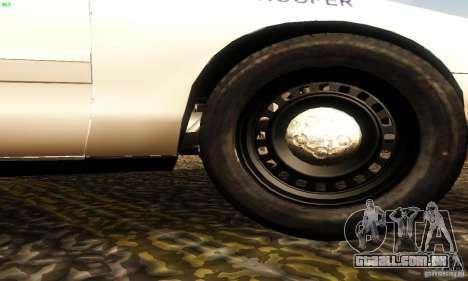 Ford Crown Victoria New Jersey Police para GTA San Andreas vista direita