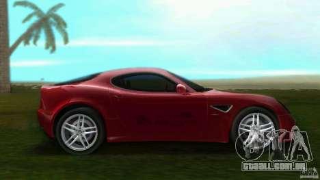 Alfa Romeo 8C para GTA Vice City deixou vista