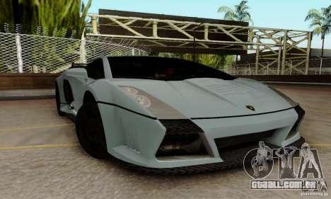 Lamborghini Gallardo para GTA San Andreas vista direita