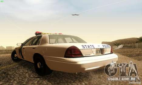 Ford Crown Victoria New Jersey Police para GTA San Andreas esquerda vista
