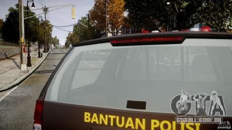 Chevrolet Tahoe Indonesia Police para GTA 4 vista superior