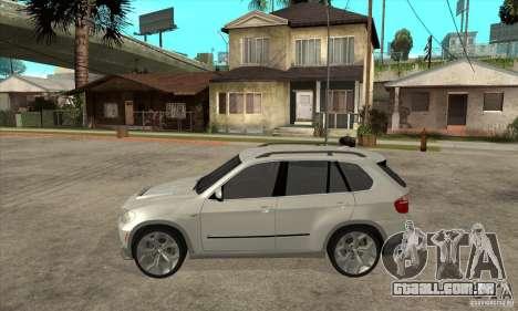 BMW X5 E70 Tuned para GTA San Andreas esquerda vista