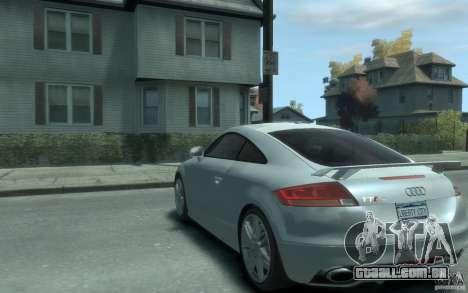 Audi TT-RS para GTA 4 traseira esquerda vista