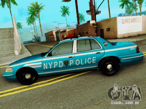 Ford Crown Victoria 2003 NYPD Blue para GTA San Andreas esquerda vista