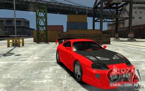 Toyota Supra Black Tuning para GTA 4 vista de volta