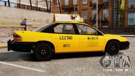 Dodge Intrepid 1993 Taxi para GTA 4 esquerda vista