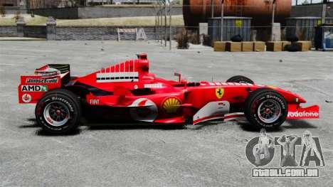 Ferrari F2005 para GTA 4 esquerda vista