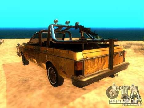 Regina War para GTA San Andreas esquerda vista