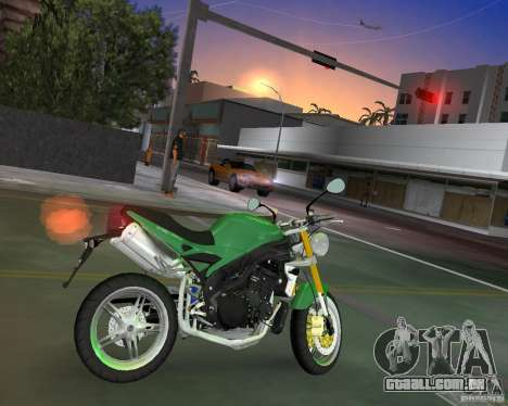 Triumph Speed Triple para GTA Vice City deixou vista