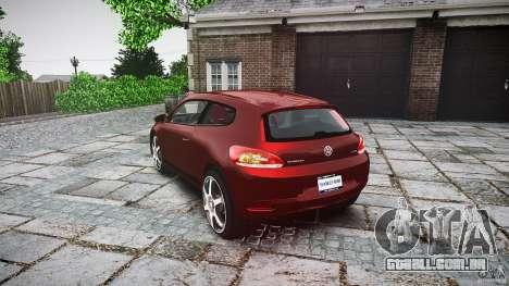 Volkswagen Scirocco 2.0 TSI para GTA 4 traseira esquerda vista